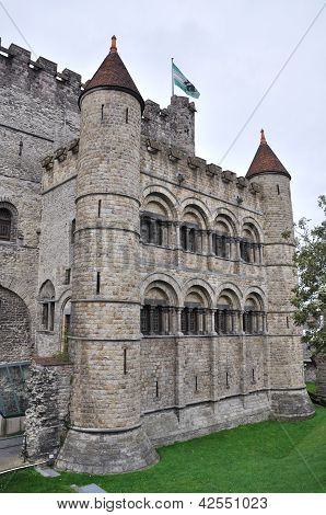 Gravesteen Castle In Ghent, Belgium