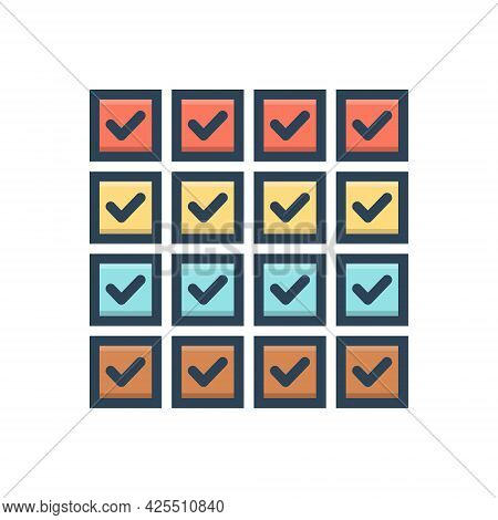 Color Illustration Icon For All Whole Complete Overall Gross