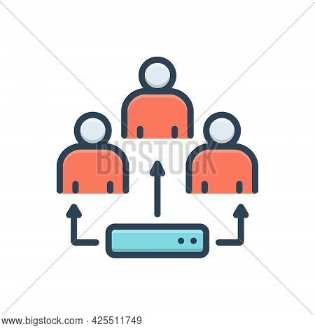 Color Illustration Icon For Ldap Generation Person Lightweight Directory Access Protocol
