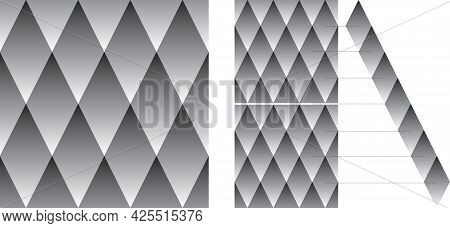 Optical Illusion - Diamond Shapes Appear To Be Darker In The Bottom Row Than The Top Row Diamonds Al