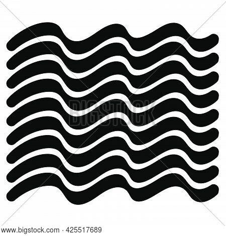 Wavy, Waving, Billowy, Undulating Lines, Stripes. Curvy, Wave Lines