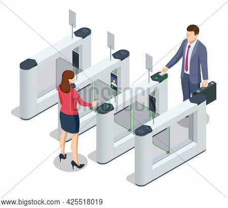 Isometric Turnstile. Access Control Equipment. Magnetic Card Access Turnstiles. Electronic Turnstile