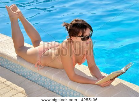 Reading At The Pool