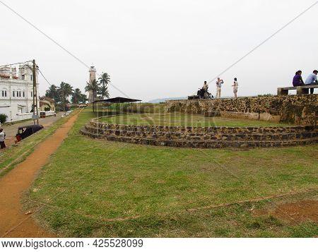Galle, Sri Lanka - 10 Jan 2011:vintage Fort In The Center Of Galle, Sri Lanka
