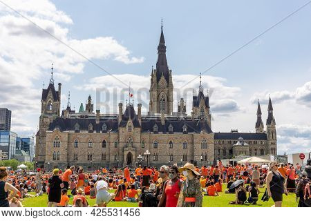 Cancel Canada Day Protest In Ottawa Canada In 2021 On Parliament Hill In Downtown