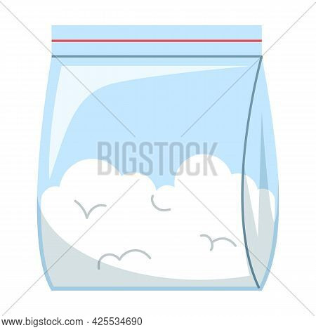 Cocaine Drug In A Plastic Bag Isolated