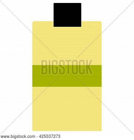 Vector Illustration Of Bottle For Cosmetics, Sunscreen, Mosquito Repellent. Face And Body Care Produ