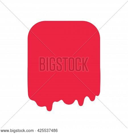 Abstract Colored Slime Shape. Geometric Slimed Object On Isolated Background