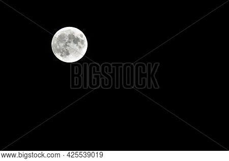 White Moon On Th Black Starless Sky