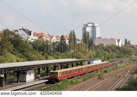 Berlin, Germany - September 7, 2014: Berlin S-bahn Station. The Berlin S-bahn Is A Rapid Transit Rai