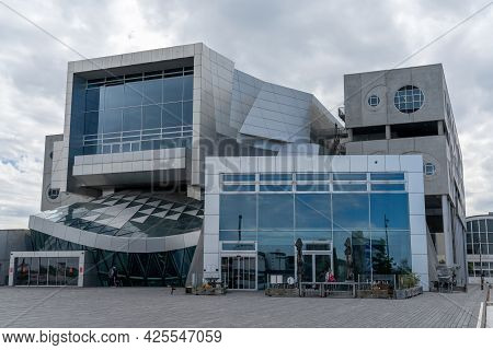 Aalborg, Denmark - 7 June, 2021: View Of The Iconic House Of Music In Aalborg