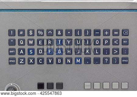 Heavy Duty English Keyboard Input At Machine Production Equipment
