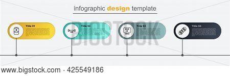 Set Line Broken Skateboard, Skateboard T Tool, Wheel And Baseball Cap. Business Infographic Template