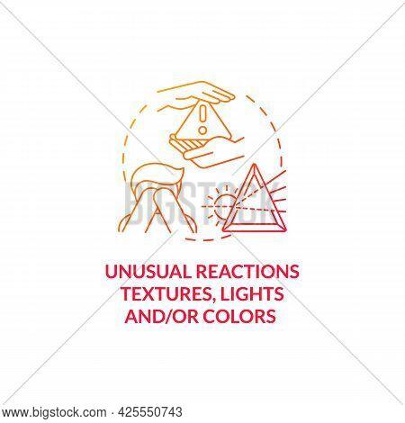 Sensory Issues In Autism Concept Icon. Autism Symptom Abstract Idea Thin Line Illustration. Respondi