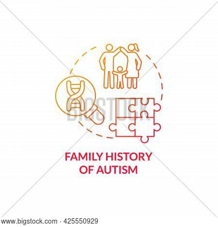 Family Autism History Concept Icon. Autism Risk Factor Abstract Idea Thin Line Illustration. Genetic