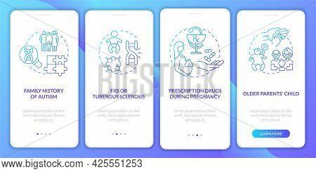 Asd Causes Onboarding Mobile App Page Screen. Older Parents Child, Inheritance Walkthrough 4 Steps G