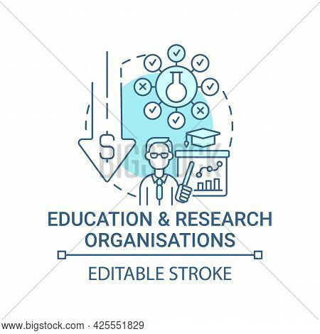 Education And Research Organizations Concept Icon. Fundraising Abstract Idea Thin Line Illustration.