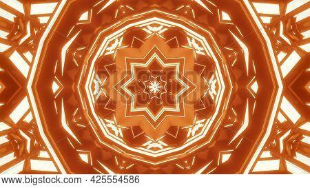Crystal Kaleidoscopic Ornament 4k Uhd 3d Illustration