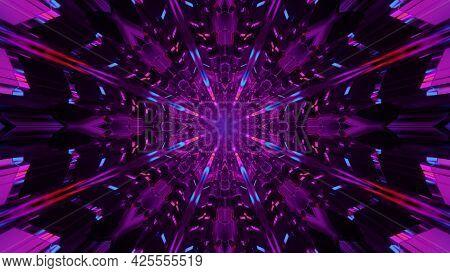 Abstract Kaleidoscopic Ornament 4k Uhd 3d Illustration
