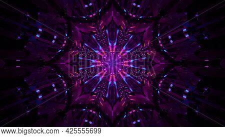 4k Uhd 3d Illustration Of Dark Abstract Ornament