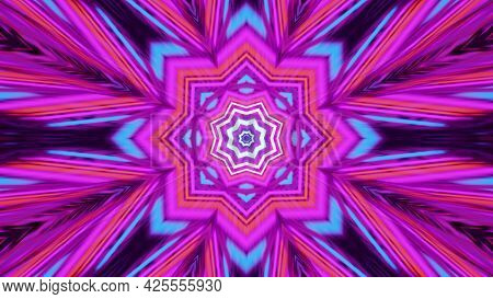 Colorful Psychedelic Ornament 4k Uhd 3d Illustration