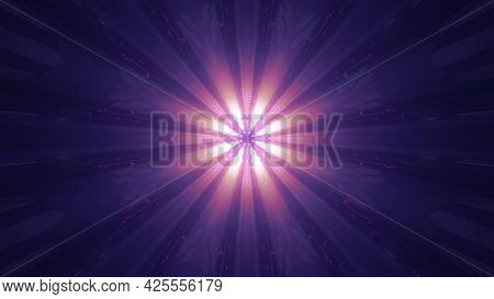 Bright Rays Glowing In Darkness 4k Uhd 3d Illustration