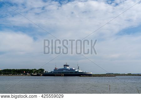 Tars, Denmark - 10 June, 2021- The Langeland Ferry At The Ferry Terminal In Tars On Lolland Island I