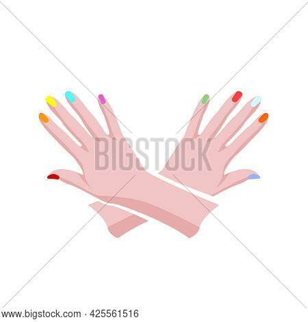 Manicure Logo Image. Isolated Editable Vector Illustration