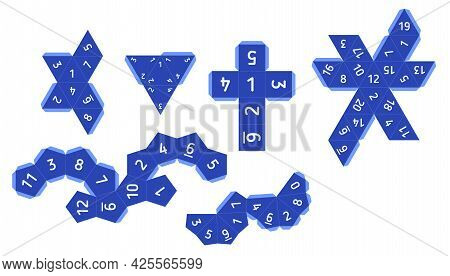 Paper Unwrap Templates Of Dice For Boardgames