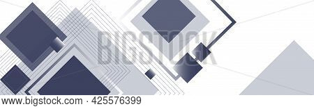 Abstract Background With Rectangles And Squares On A White Background - Vector Illustration