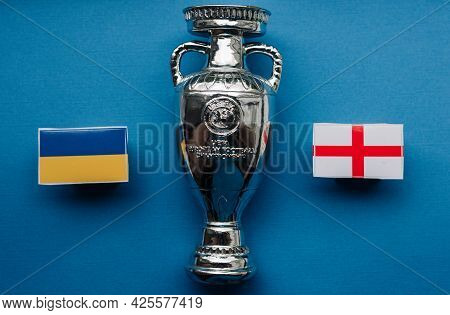July 1, 2021 Rome, Italy. Flags Of The Participants Of The 1/4 Finals Of The European Football Champ