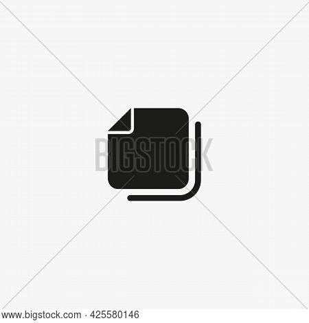 Copy Content Vector Icon. Copy File, Document Symbol. Copy Button For Web And Mobile Ui Design.