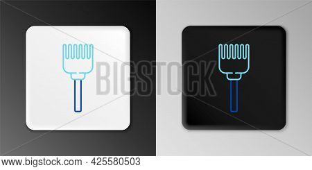 Line Hairbrush Icon Isolated On Grey Background. Comb Hair Sign. Barber Symbol. Colorful Outline Con
