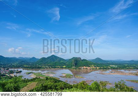 Beautiful Landscape View On Phu Lamduan At Loei Thailand.phu Lamduan Is A New Tourist Attraction And