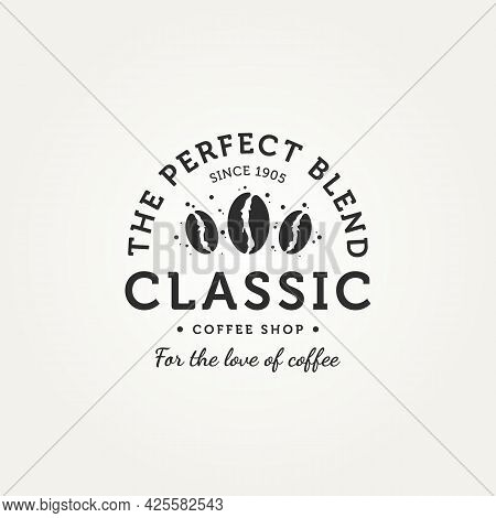 Classic Coffee Shop Badge Vintage Logo Template Vector Illustration Design. Retro Classic Bar, Resta
