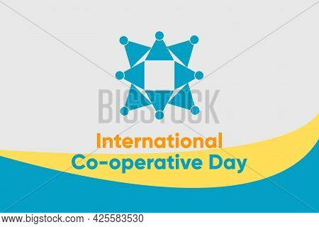 Vector Illustration Of International Co-operative Day. Unity Symbol.