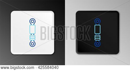 Line Shock Absorber Icon Isolated On Grey Background. Colorful Outline Concept. Vector