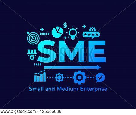 Sme, Small And Medium Enterprise, Vector Art