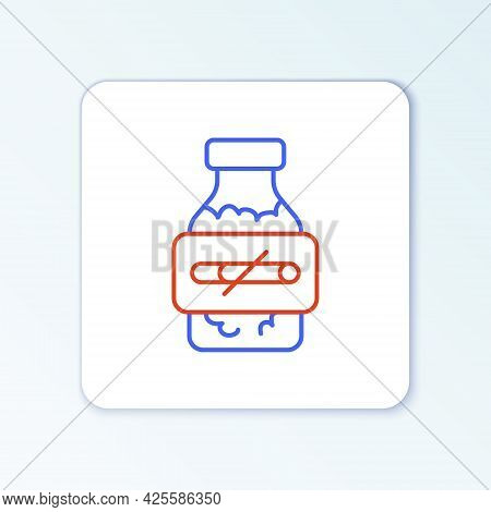 Line Nicotine Gum In Blister Pack Icon Isolated On White Background. Helps Calm Cravings And Reduces