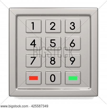 Atm Machine Keypad With Numbers 3d Illustration