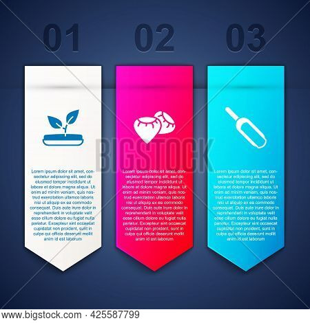 Set Sprout, Seed And Scoop Flour. Business Infographic Template. Vector