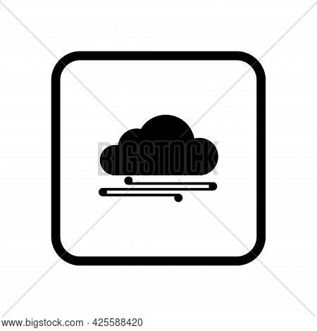 Cloud And Wind, Icon On A White Background. Wind Cloud Icon For Web Design. Vector.