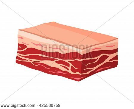 Meat Product Or Raw Meat. Illustration For Concept Product Of Farmers Market Or Shop. Sponder. Carto