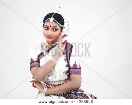 indian classical beautiful female odissi dancer from India origin poster