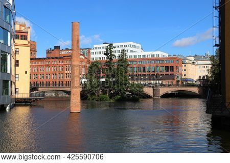 Norrkoping Town In Sweden. Former Industrial Place - Revitalized Architecture.