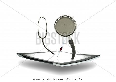 Tablet With A Stethoscope