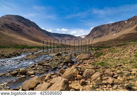 Rocky Creek Flowing Down From Mountains - Tablelands, Gros Morne, Newfoundland, Canada