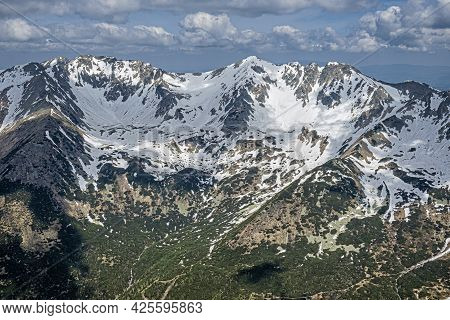Banikov And Hruba Kopa Peaks From Baranec Peak, Western Tatras, Slovak Republic. Hiking Theme. Seaso