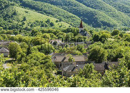 Lucka Village, Slovak Republic. Seasonal Rural Scene. Travel Destination.