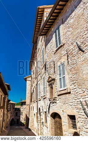 Architecture Of Assisi. Unesco World Heritage In Italy